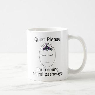 Tranquilidad por favor: Estoy formando caminos de  Taza Básica Blanca