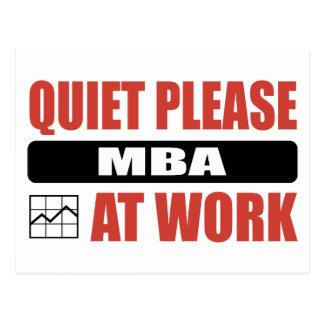 Tranquilidad por favor MBA en el trabajo Postal