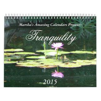 Tranquility 2015 calendar