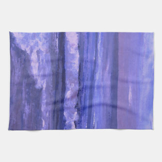 Tranquility 2 Purple Sea Waves Art Ocean Decor Towel