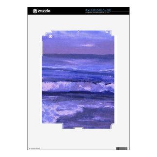 Tranquility 2 Purple Sea Waves Art Ocean Decor Skin For iPad 2