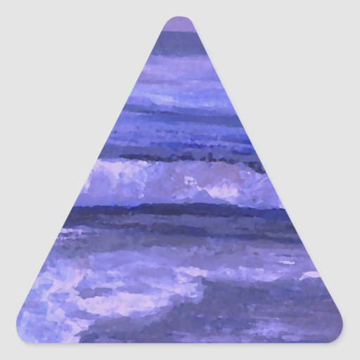 Tranquility 2 Purple Sea Waves Art Ocean Decor Stickers