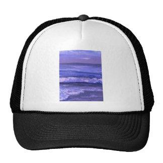Tranquility 2 Purple Sea Waves Art Ocean Decor Trucker Hat