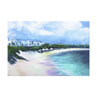 'Tranquility, Anguilla' by Kandy Cross Stretched Canvas Prints