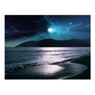 Tranquility Beach Moonrise Postcard
