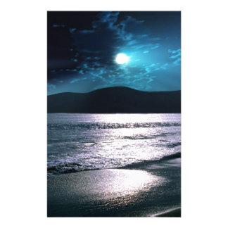 Tranquility Beach Moonrise Stationery