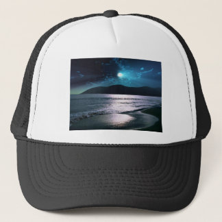 Tranquility Beach Moonrise Trucker Hat