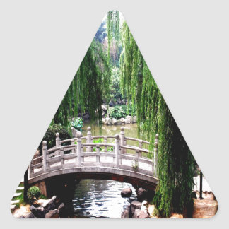 tranquility bridge water peace calm triangle sticker