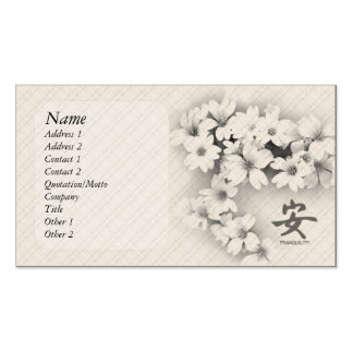 Tranquility Double-Sided Standard Business Cards (Pack Of 100)