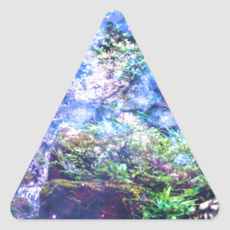 Tranquility Falls Triangle Sticker