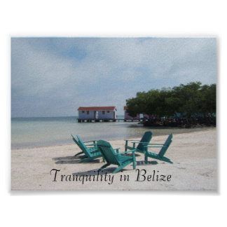 Tranquility in Belize Poster