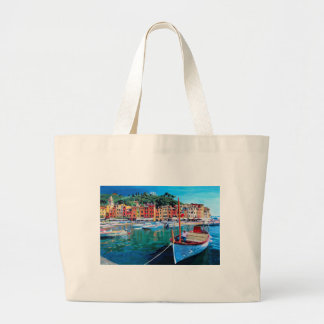 Tranquility in the Harbour of Portofino Tote Bag