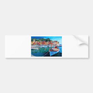 Tranquility in the Harbour of Portofino Bumper Sticker