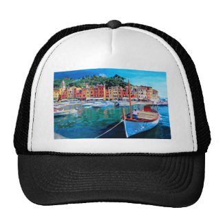 Tranquility in the Harbour of Portofino Trucker Hat