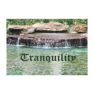 Tranquility in Water Fall Pond Wrapping Canvas Stretched Canvas Prints