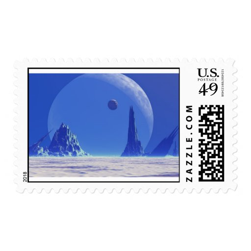 TRANQUILITY MOON POSTAGE STAMP