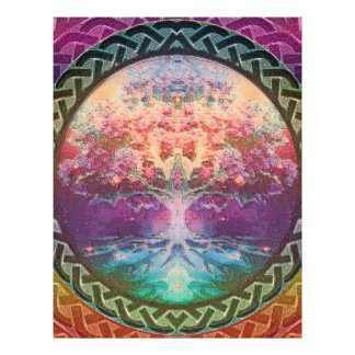Tranquility Tree of Life in Rainbow Colors Flyer