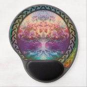 Tranquility Tree of Life in Rainbow Colors Gel Mouse Pad (<em>$13.70</em>)