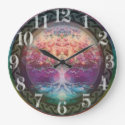 Tranquility Tree of Life in Rainbow Colors Large Clock (<em>$31.65</em>)