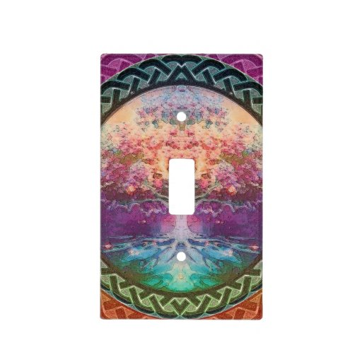 Tranquility Tree of Life in Rainbow Colors Light Switch Plate