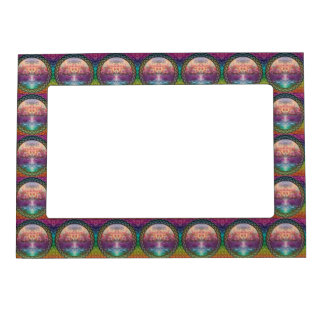Tranquility Tree of Life in Rainbow Colors Magnetic Frame