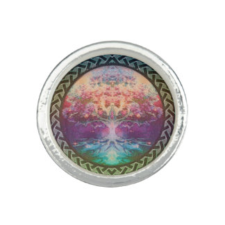 Tranquility Tree of Life in Rainbow Colors Photo Ring