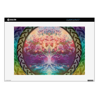 "Tranquility Tree of Life in Rainbow Colors Decals For 15"" Laptops"