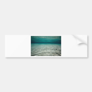 Tranquility turquoise tropical beach underwater bumper sticker