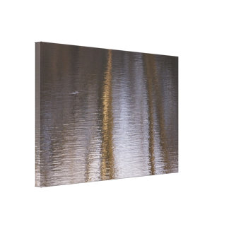 Tranquility: Water Ripples and Reflections Canvas