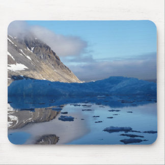 Tranquility with ice bergs mouse pad