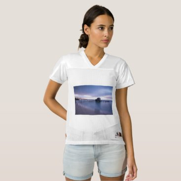 Beach Themed Tranquility Women's Football Jersey