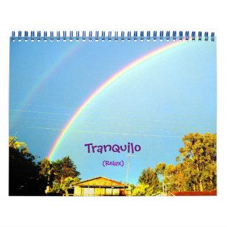Tranquilo (Relax) calendar