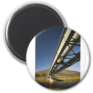 Trans Alaska oil pipeline crossing South fork Koyu 2 Inch Round Magnet