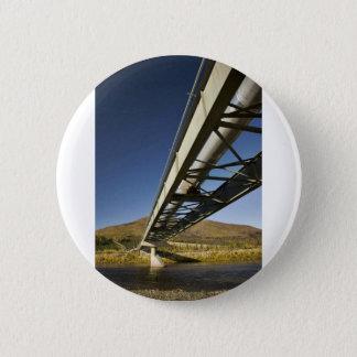 Trans Alaska oil pipeline crossing South fork Koyu Pinback Button
