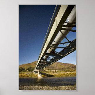 Trans Alaska oil pipeline crossing South fork Koyu Print