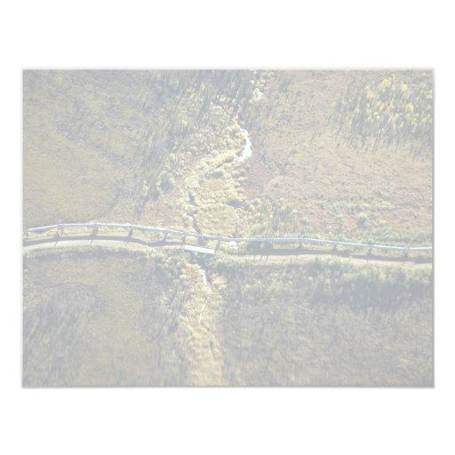 "Trans Alaska Pipeline crossing tributary of Koyuku 4.25"" X 5.5"" Invitation Card"