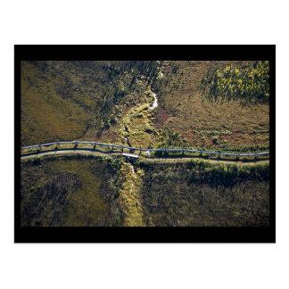 Trans Alaska Pipeline crossing tributary of Koyuku Postcard