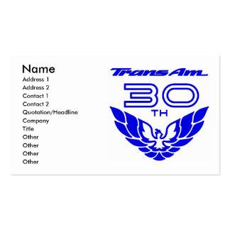 Trans am business card