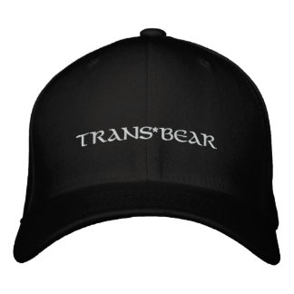 Trans*BEAR Embroidered Baseball Hat
