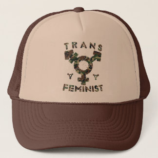 TRANS FEMINIST - For Liberation Of All Women, Camo Trucker Hat