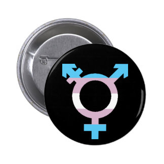 Trans Flag Symbol Buttons