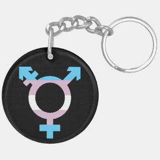 Trans Flag Symbol Keychain
