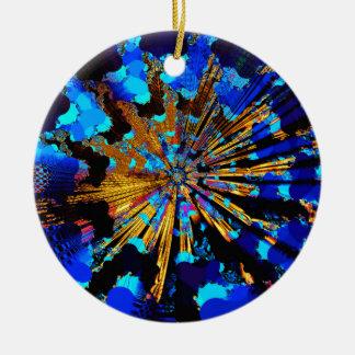trans fusion ray ceramic ornament