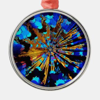 trans fusion ray metal ornament