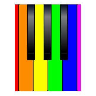 Trans Gay Piano Keys Postcard