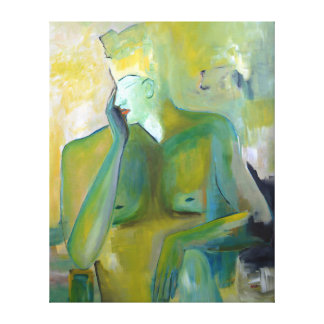 Trans-Gender Man Woman Portrait Abstract Androgyne Canvas Print