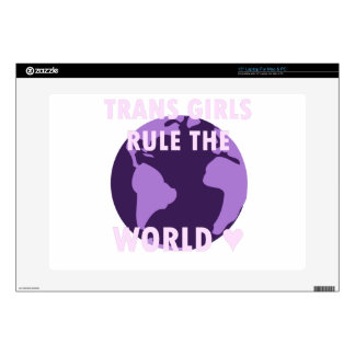 "Trans Girls Rule The World (v1) 15"" Laptop Decal"