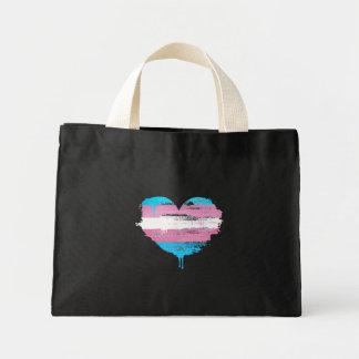 TRANS HEART - TRANS LOVE - MINI TOTE BAG
