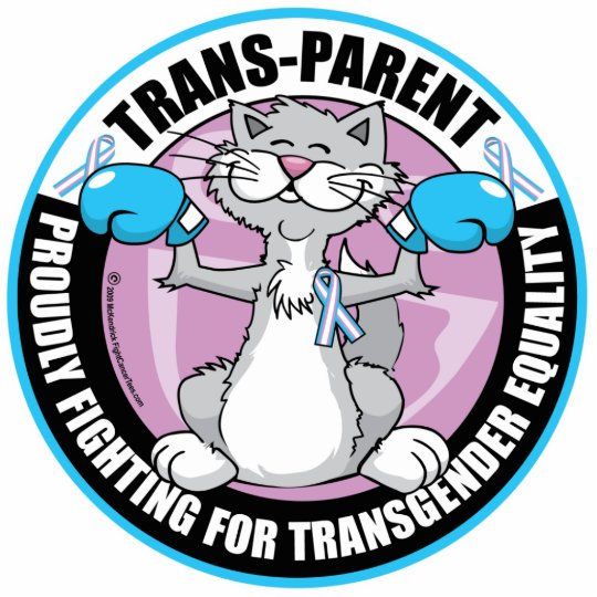 Trans-Parent Cat Fighter Cutout