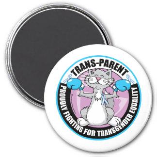 Trans-Parent Cat Fighter Magnet